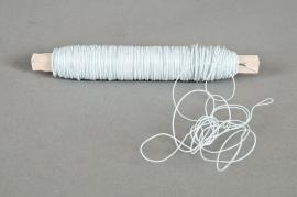 A169MG Bobine de fil de fer sur bois blanc