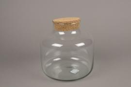 A171I0 Bocal en verre avec bouchon en liège D21cm H21cm
