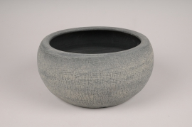 A171Y8 Grey concrete pot D35cm H15.5cm