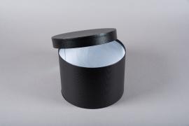 A172UN Set de 3 boîtes en carton noir D23.5cm H17cm