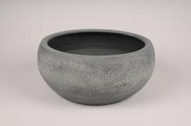 A172Y8 Grey concrete pot D29cm H14cm