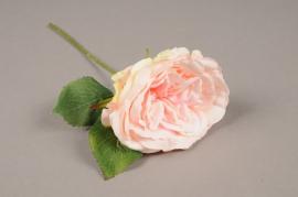 a173nn Artificial pink rose H28cm