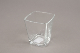 A175I0 Conic cube glass 6x6cm H7cm