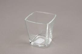 A175I0 Cube en verre conique 6x6 H7cm
