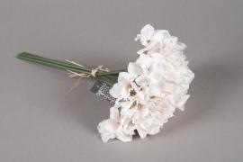 a175nn Bouquet d'hortensia artificiel crème H28cm