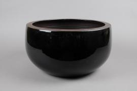 A175QS Coupe en céramique noir D38 H19cm