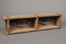 A176U7 Caisse en bois déco 58x14cm H9cm