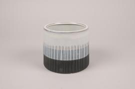 A176Y8 Cache-pot en céramique blanc D15cm H13cm