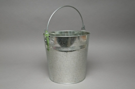 A177KM Natural zinc bucket D21cm H20cm