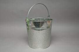 A177KM Natural zinc bucket D21cm H20cm