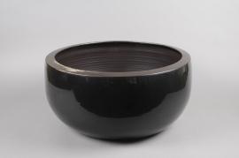 A177QS Coupe en céramique noir D50 H19cm