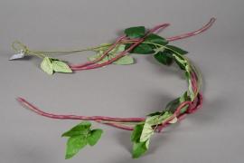 a178nn Guirlande artificielle de haricots rouges 112cm