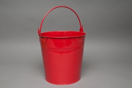 A179KM Zinc bucket red D21cm H20cm