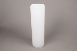 A180I0 Vase en verre cylindre blanc H50cm