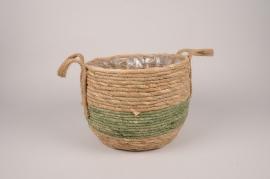 A180NM Natural basket planter D29cm H22cm
