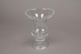 A181I0 Vase médicis en verre D16.5cm H23cm