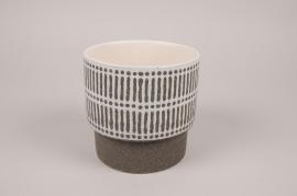 A182Y8 Cache-pot en céramique marron D13cm H13cm