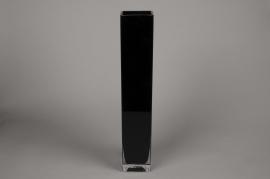 A184I0 Vase glass square black 10x10cm H60cm