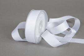 A186UN White grosgrain ribbon 25mmx20m
