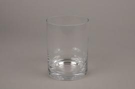 A189I0 Vase verre cylindre D11.5cm H17cm