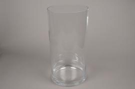 A190I0 Vase en verre cylindre D24 H50cm