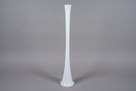 A191I0 Vase en verre église blancH100cm