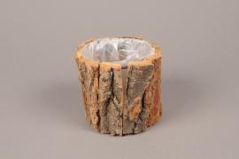 A192U7 Cache-pot en écorce de bois D10cm H8.5cm