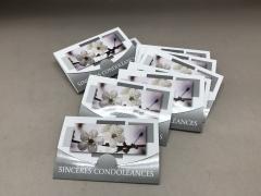 A193MQ Paquet de 10 cartes Sincères condoléances