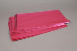 A198BD Paquet de 50 sachets papier métal fuchsia 20x35cm
