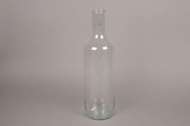 A198DQ Vase en verre bouteille D15cm H52cm