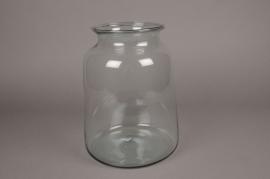 A198IH Vase bocal en verre D22cm H29cm