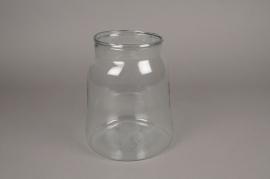 A199IH Vase bocal en verre D18.5cm H23.5cm