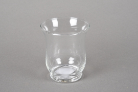 A200I0 Glass candle jar D10cm H13cm