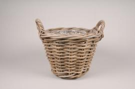A200NM Rattan baskets planter D36cm H31cm