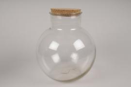 A201DQ Vase en verre avec bouchon D26cm H27cm