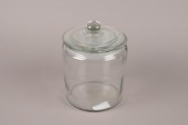 A203I0 Bonbonnière en verre D14cm H21cm