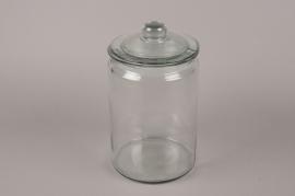 A205I0 Bonbonnière en verre D18.5cm H33cm