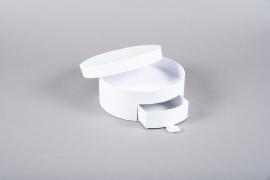 A205UN Boîte à bijoux en carton blanc D20.5cm H11cm