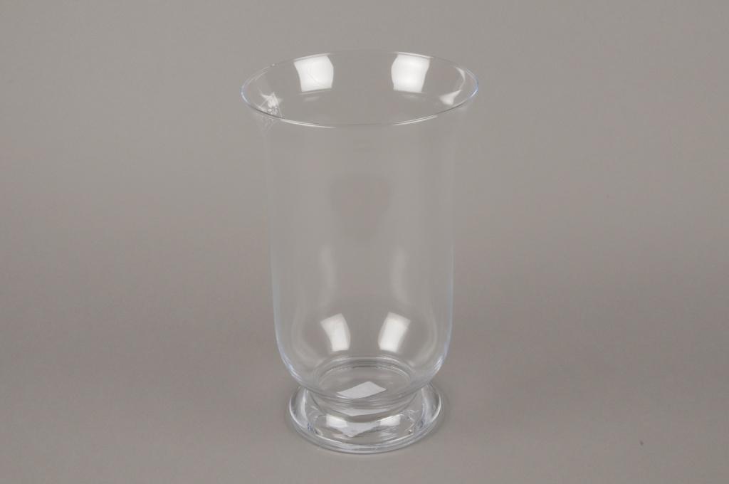 A206I0 Photophore en verre D18cm H30cm