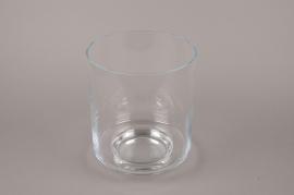 A207I0 Glass stemmed light holder D22cm H26cm