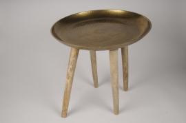 A207KI Table basse bois et métal D43cm H45cm