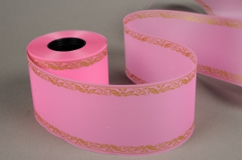A207ZR Pink bereavement ribbon 75mm x 50m