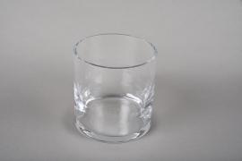 A209I0 Pot en verre épais D10.5 H11cm
