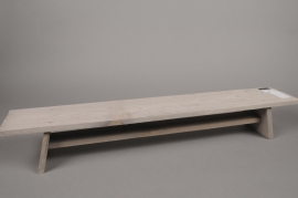 A209U7 Banc en bois gris 78x14cm H12.5cm