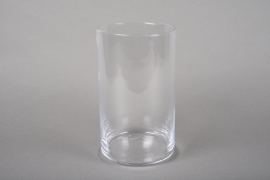 A210I0 Cylindric glass vase D12cm H20cm