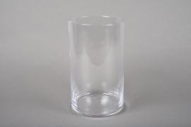 A210I0 Cylindric glass vase D12cm H20cm