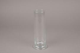A210IH Vase en verre cylindre D6cm H20cm