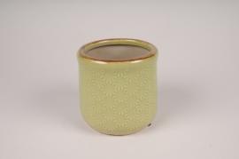 A210NM Cache-pot en céramique vert D12cm H11cm