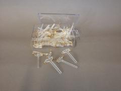 A211MG Boîte de 50 broches transparentes pour corsage