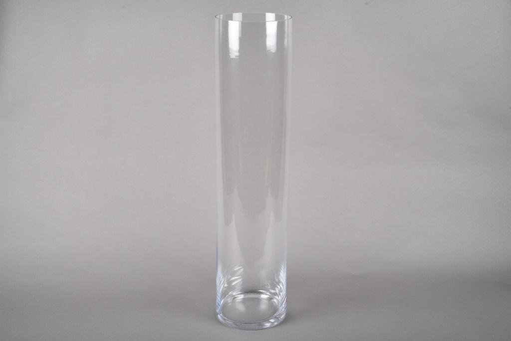 A212I0 Vase verre cylindre D15cm H68cm